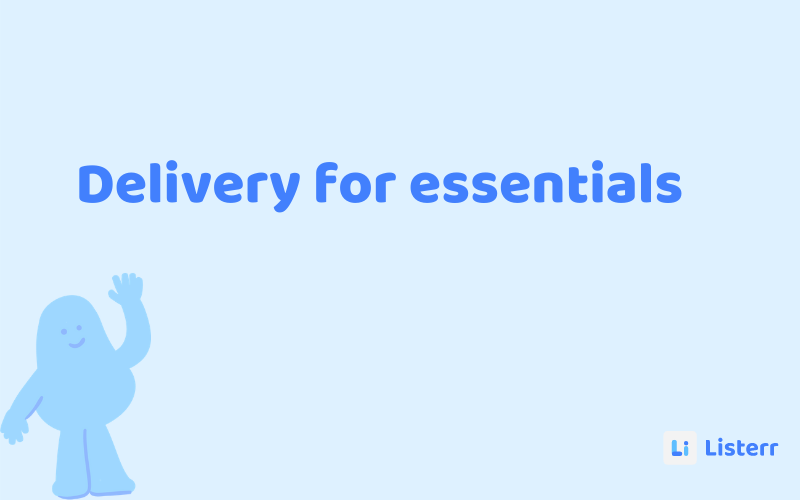 Order essentials from your home and get delivery right at your doorstep.